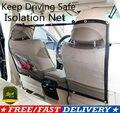 Автомобильный барьер для домашних питомцев, сетчатая Защитная изоляционная сетка для путешествий, заднее сиденье для автомобиля, фургона