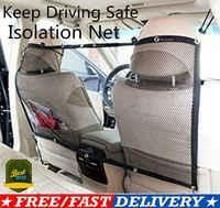 Car Pet Barrier Mesh Dog Car Safety Travel Isolation Net Vehicle Van Back Seat