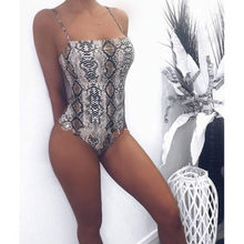 New Fashion Leopard Printed Sexy Bodysuit Women Lady Skinny Party Leotard Top Summer Sleeveless Shirt Sunsuit(China)