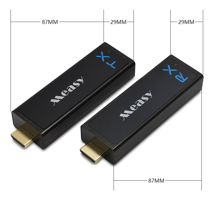 measy Wireless HDMI Transmitter and Receiver HDMI Extender up to 30M/100Feet support 1080P 3D Video to Projector HDTV Monitor
