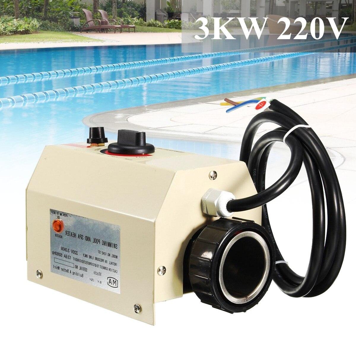 3000 W piscine maison bain SPA bain chaud chauffage baignoire électrique chauffe-eau Thermostat 220 V piscine accessoires