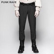 Punk Rave Gothic Casual Pinstripe Simple Retro Steampunk Gentleman Men's Trousers Pants Stage Performance Wedding Pants цены
