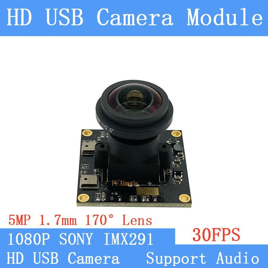 Cctv camera Ster Licht Lage verlichting Fisheye Brede Kijkhoek Sony IMX291 2MP Full HD 1080 P Webcam UVC 30FPS USB Camera Module-in Beveiligingscamera´s van Veiligheid en bescherming op AliExpress - 11.11_Dubbel 11Vrijgezellendag 1
