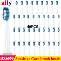 40pcs Replacement Brush Heads Compatible with Philips Sonicare Electric Toothbrush Model HX 6054 HX6053