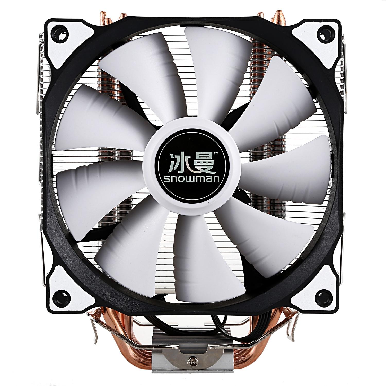 Bonhomme de neige refroidisseur de processeur Master 4 caloducs en cuivre pur gel tour système de refroidissement CPU ventilateur de refroidissement avec ventilateurs PWM