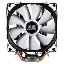 SNOWMAN CPU Cooler Master 4 Pure Copper Heat-pipes freeze Tower Cooling System CPU Cooling Fan with PWM Fans cheap CN(Origin) Processor Fluid Bearing 50000 hrs 1200RPM 22dBA 23-89 CFM 4 Lines 4pin I167223 120x120x25mm