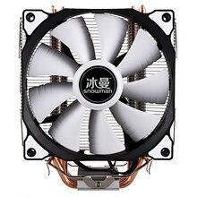SNOWMAN-enfriador de CPU Master 4, tubos de calor de cobre puro, sistema de refrigeración de CPU con ventiladores PWM