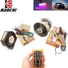 Alarm Siren Wireless 12V Loud Car Police Siren 400W 200W Speaker Train Horn Klaxon 12 Tone Warning Sound MIC PA System Megaphone