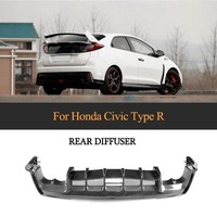 Задний бампер диффузор для Honda Civic 2017 2018 Тип R хэтчбек 4 двери углеродного волокна бампер для губ фартук протектор