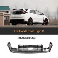 Rear Bumper Diffuser for Honda Civic Honda Civic 2017 2018 Type R Hatchback 4 Door Carbon Fiber Bumper Lip Apron Protector