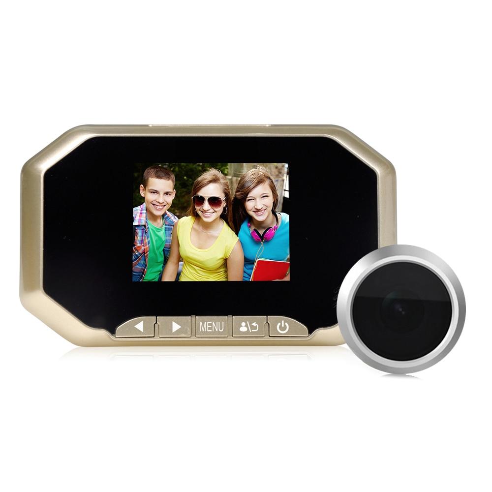 Intelligent Sans Fil Sonnette WiFi 2.0MP Professionnel LCD Caméra de Sécurité Judas Spectateur PIR Vidéo Support D'enregistrement USB Mobile Power