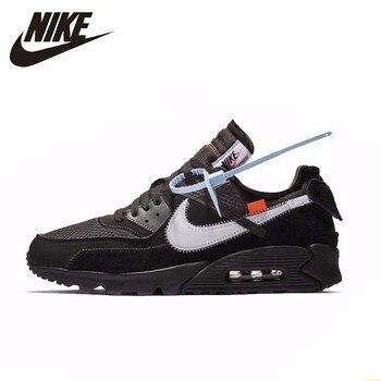 free shipping bb1d2 45330 Nike Air Max 90 Ow zapatos originales para correr de hombre nueva llegada  cómodos zapatillas de deporte antideslizantes al aire libre # AA7293