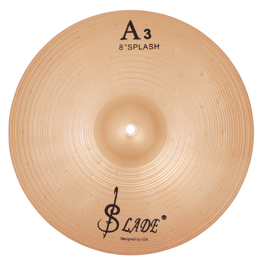 SLADE Copper Alloy Crash Cymbal Drum Set Durable Brass Alloy Cymbal For Percussion Instruments Players Beginners