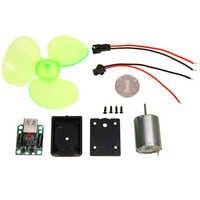 1 satz Kleine Mini Wind Generator Micro Wind Turbine Motor Tragbare Notfall Telefon Ladegerät Für USB Ausgang DC 5 v
