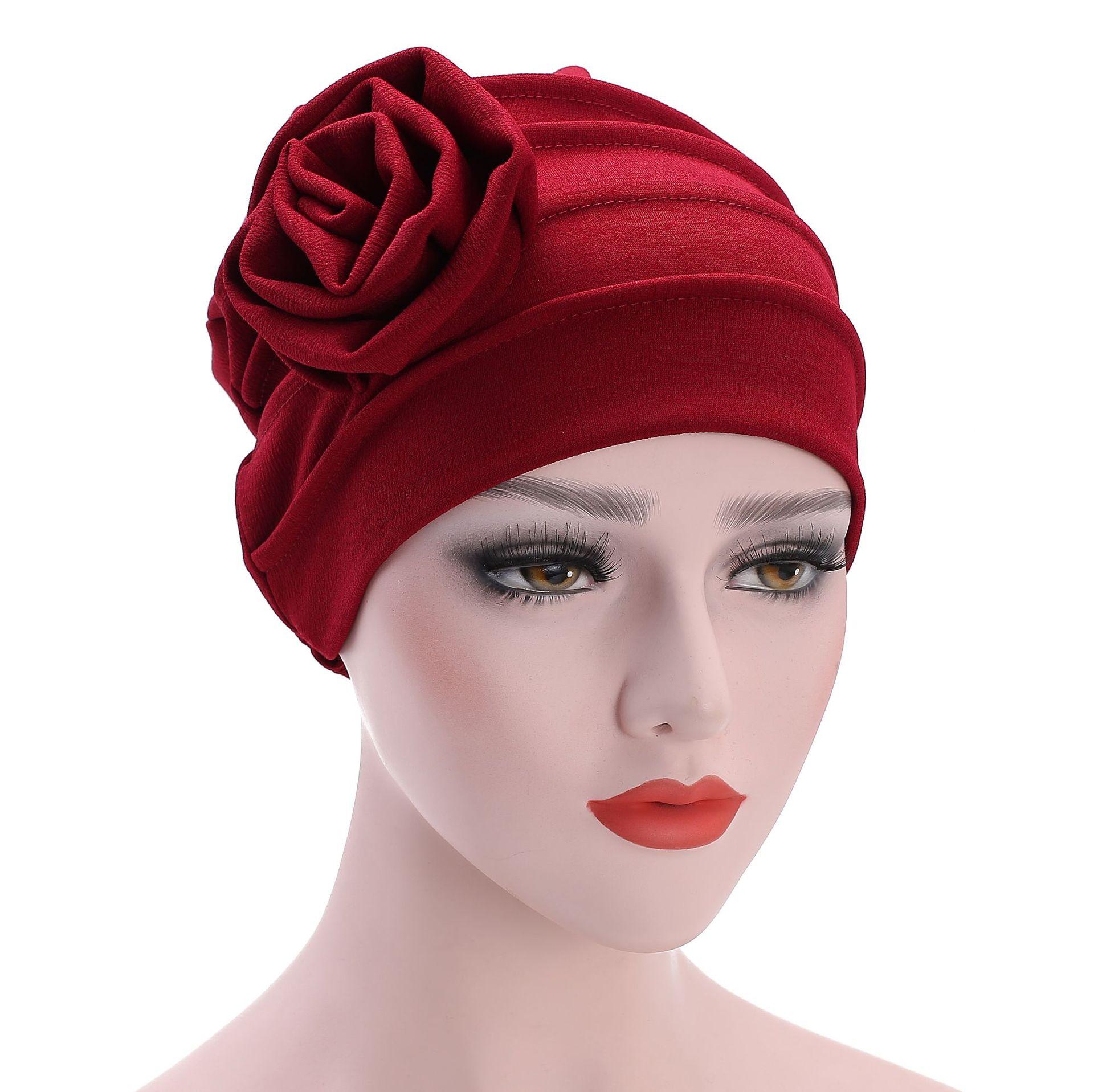 Flower Islamic Clothing Muslim Hijab Inner Caps Beanie Cancel Sleep Turban Hat Bonnet African For Women