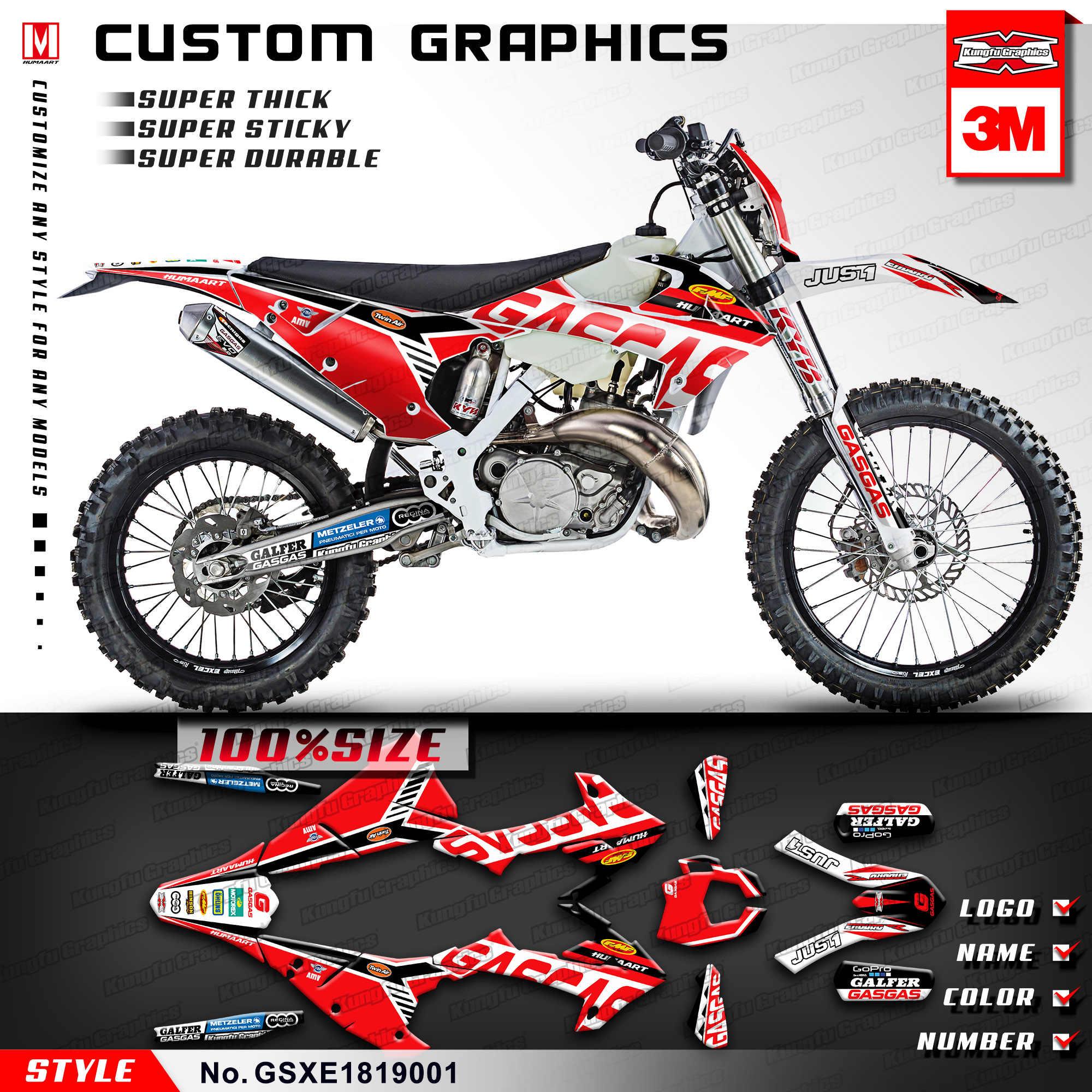 Kungfu graphics custom mx stickers kit for gas gas xc ec 200 250 300 ecranger enduro