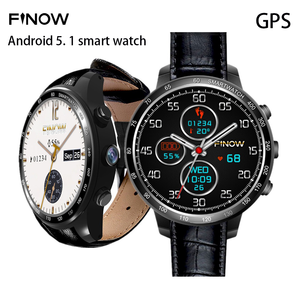 Original FINOW Q7 3G Smartwatch Phone Android 5.1 1.3 inch MTK6572 1.0GHz Dual Core 4GB ROM 2.0MP Camera Bluetooth GPS PedometerOriginal FINOW Q7 3G Smartwatch Phone Android 5.1 1.3 inch MTK6572 1.0GHz Dual Core 4GB ROM 2.0MP Camera Bluetooth GPS Pedometer