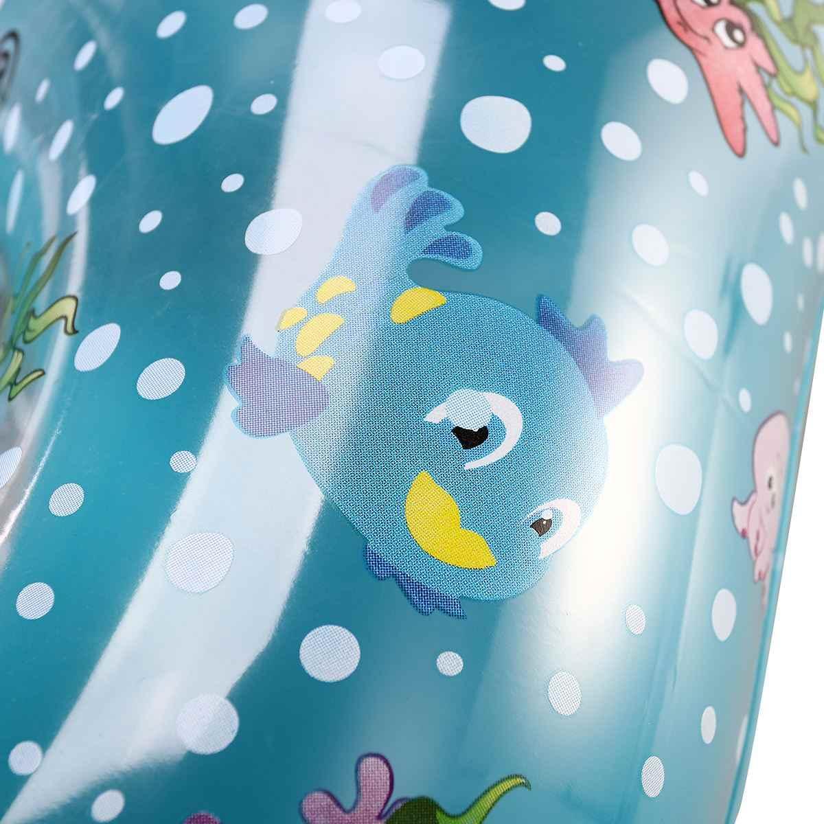 Piscina do bebê Crianças Cadeira Assento Flutuante Assento Flutuante Anel Inflável natação Mãe e Bebê Dos Desenhos Animados Padrão (Azul)