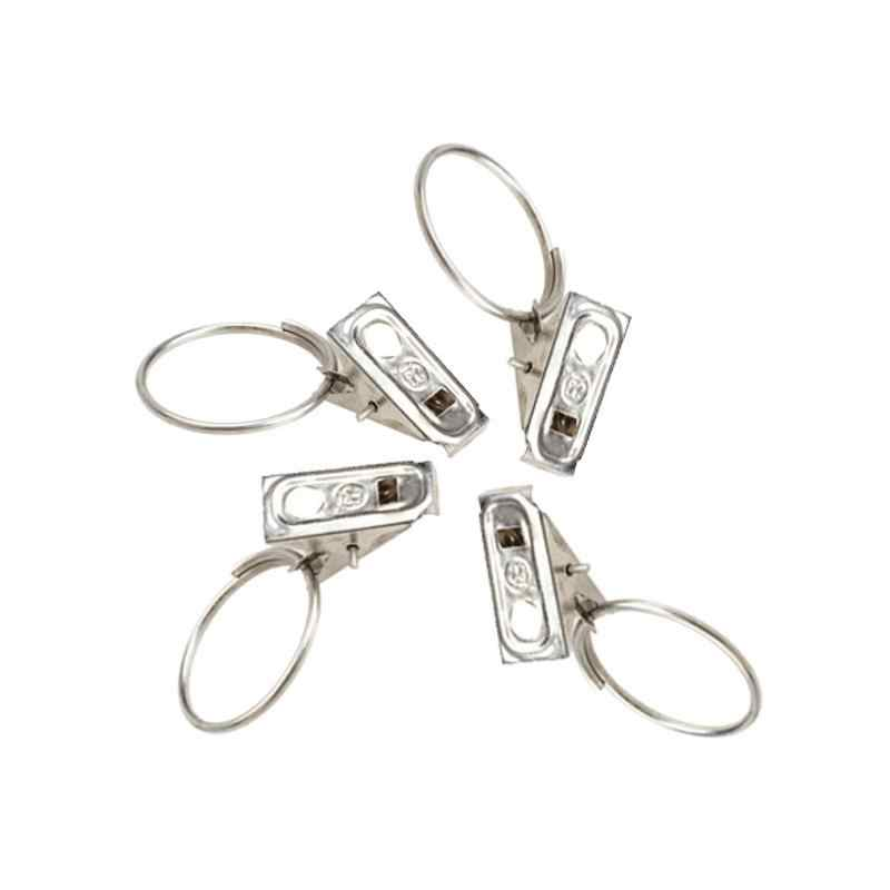 20Pcs/pack Stainless Steel Window Shower Curtain Rod Clips Rings Drapery Clips Curtain Accessorries Home Window Supplies Tools
