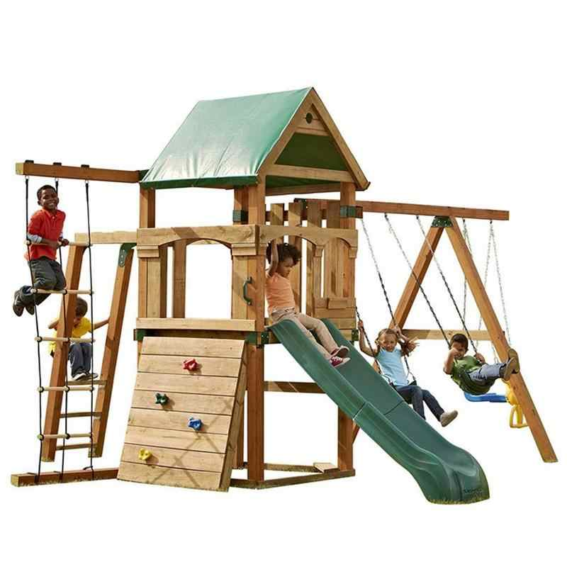 Climbing Cargo Net For Kids Outdoor Play Jungle Gyms Rope Wooden Ladder Good Quality Make Funny Useful Equipment