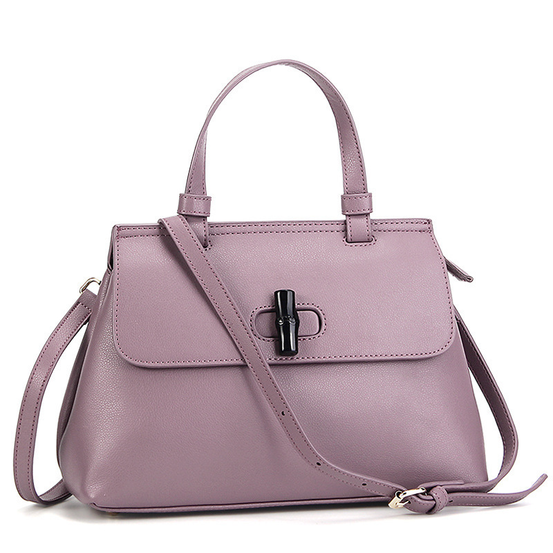 SPRING AND SUMMER 2018 NEW LEATHER HANDBAGS EUROPEAN AND AMERICAN STYLE LEATHER BAMBOO BAG SHOULDER SLUNG HANDBAG WALLET PURSESPRING AND SUMMER 2018 NEW LEATHER HANDBAGS EUROPEAN AND AMERICAN STYLE LEATHER BAMBOO BAG SHOULDER SLUNG HANDBAG WALLET PURSE