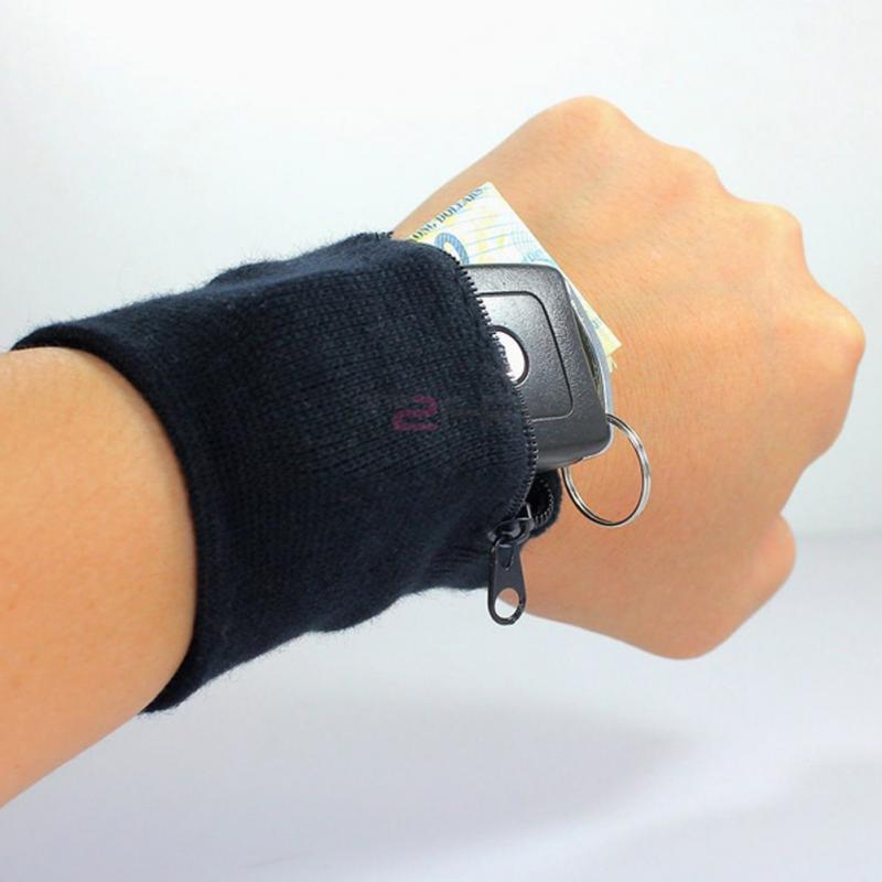 1 Pcs Convenience Zipper Wrist Wallet Bag Arm Band Bag For Key Card Storage Bag Sport Zipper Wrist Wallet Bag