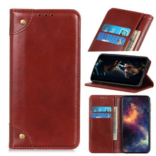 For Oneplus 7 Pro Case PU Leather Vintage Retro Copper Magnetic Buckle Flip Stand Wallet Cover For One Plus 7 Pro Case Card Slot retro flip cover pu leather case w card slot and stand for iphone 6 4 7 wine red