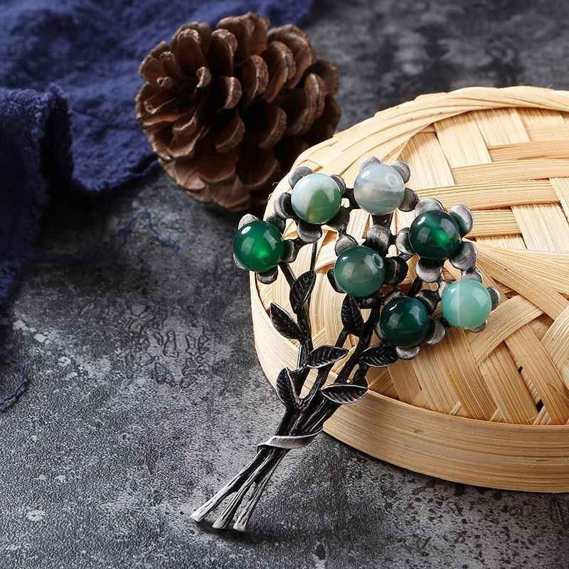 Cindy Xiang Nuovo Colore Verde Fiore di Pietra Spille per Le Donne Dell'annata di Modo Corpetto da Sposa Del Partito di Accessori di Alta Qualità 2018
