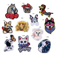 PGY Horse Patches Cartoon Sheep Badges Cat Dog Hippo Iron On For Kids Clothing Stickers T-shirt Jeans Applique