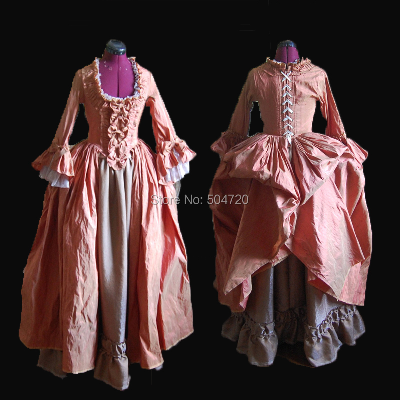 Pink Regency pioneer 18th Duchess Retro medieval Renaissance Reenactment Theatre  Civil war Victorian dress bbe192bf90bc