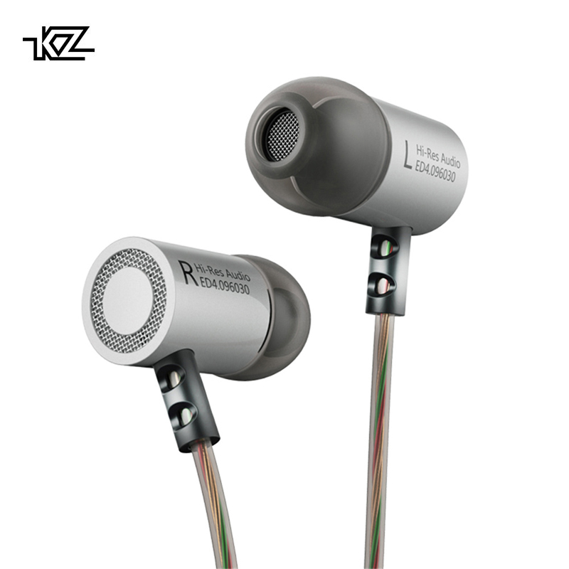KZ ED4 Metal Stereo Earphone Copper Forging Noise Isolating Hifi In-ear Music Earbuds With Microphone For Mobile Phone MP3 MP4