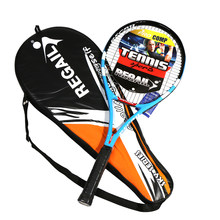 Tennis Racket Carbon Fiber Aluminium Tennis Racket Racquets Equipped with Bag Tennis Grip For Training(China)