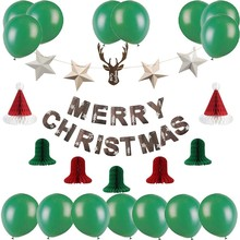 Merry Christmas Decorations For Home With Jingle Bell Hanging Garlands Santa Hat Xmas Decor