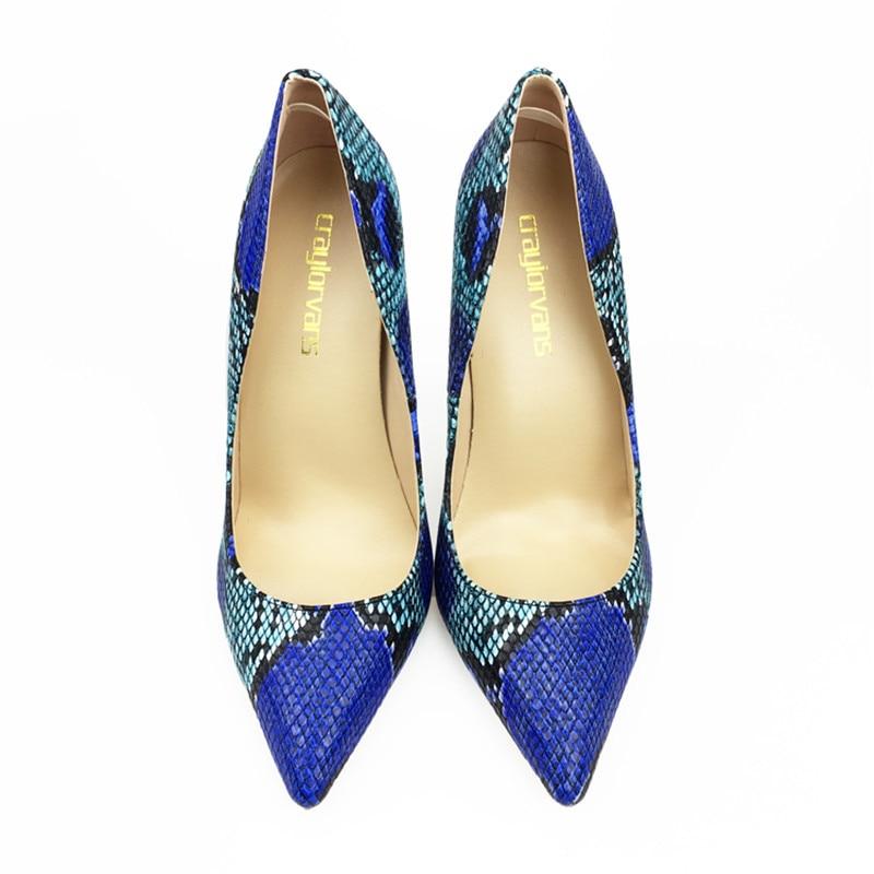 12 Hauts Cm De Bout Chaussures Pointu Heels 2018 Femmes Sexy Serpent 12cm Pompes 8cm 10cm Nouveau 10 Talons Heels Bleu Heels Arrivent Stylets Cm Imprimé 8 Cm vxzp7