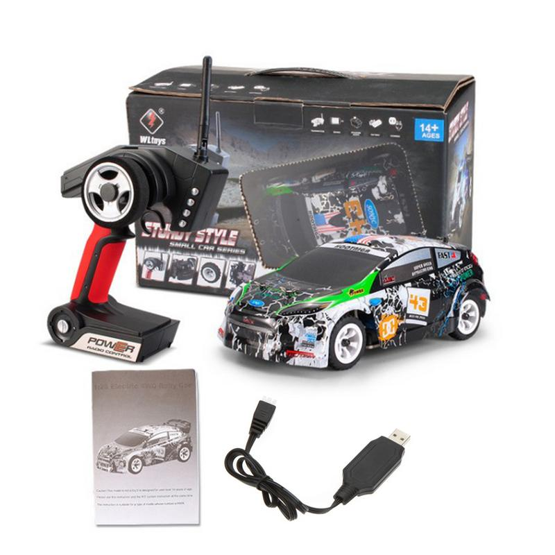 For K989 High Speed Car 1:28 Electric Four Wheel Drive Off Road Vehicle 2.4G Alloy Chassis Remote Control Car Toy