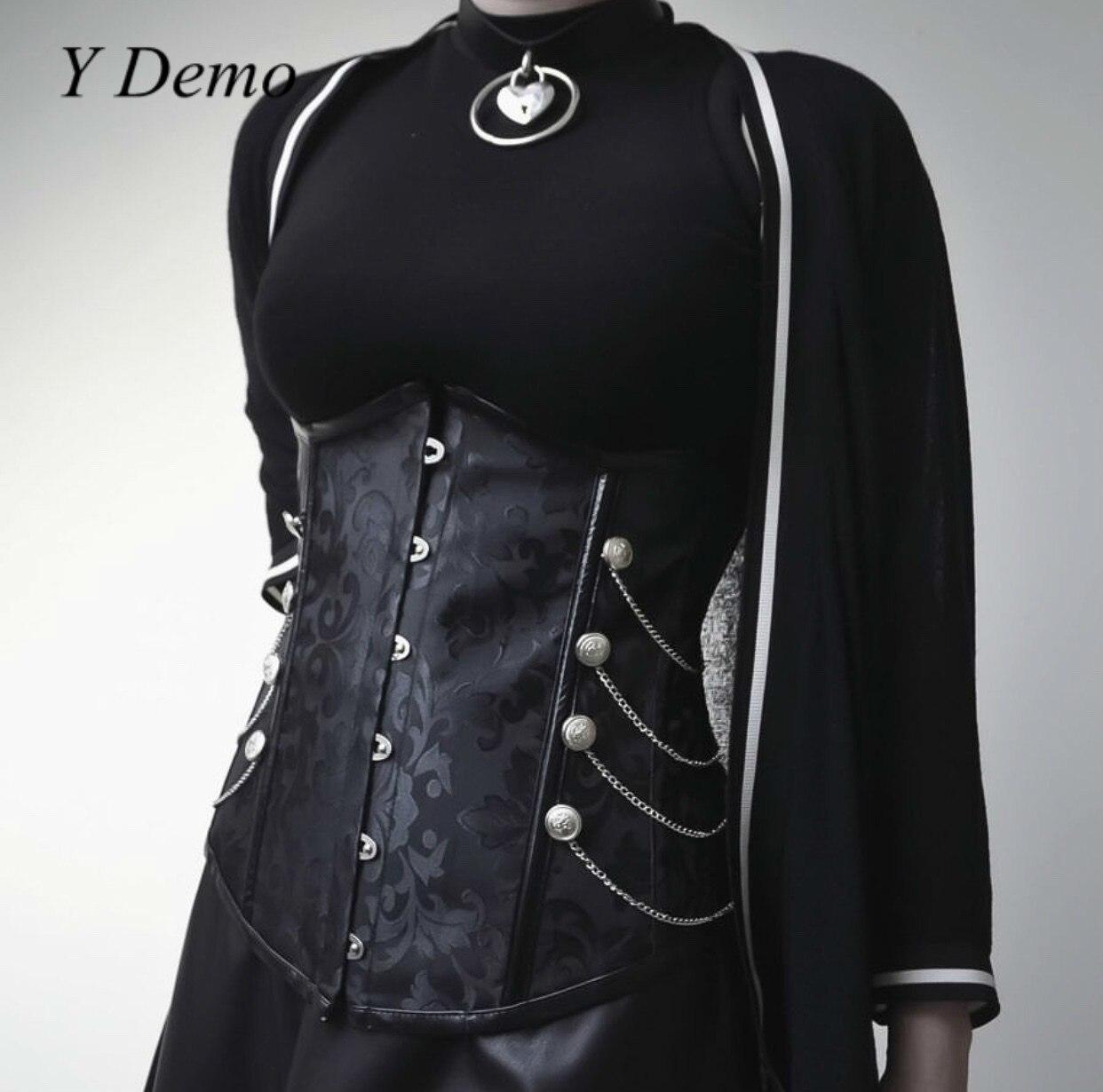2019 Gothic Women Slim Chains Elastic Belt Cummerbunds Dress Accessories
