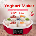 220V Elektrische Automatische Yoghurt Maker Machine Met Timer 7 Glazen Potten Automatische Smart Touchs Screen Yoghurt DIY Tool Container