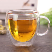 150ml 250ml Clear Double Wall Milk Coffee Cup  Glass Tea Mug Insulated Mugs Espresso Cups Wine Beer