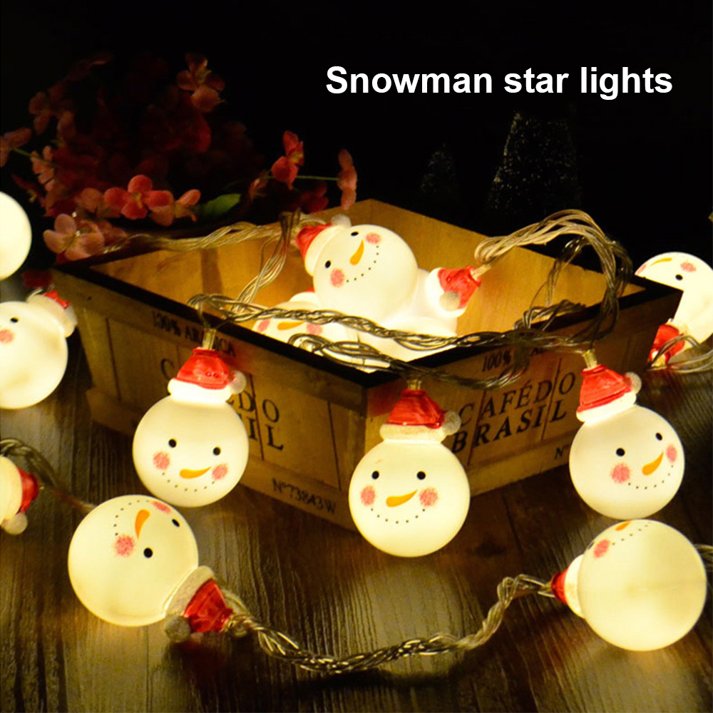 Snowmen Christmas New Year's Garland 6M 40PCS LED Light String Outdoor Waterproof Holiday Lighting For Party Deco Street Festoon
