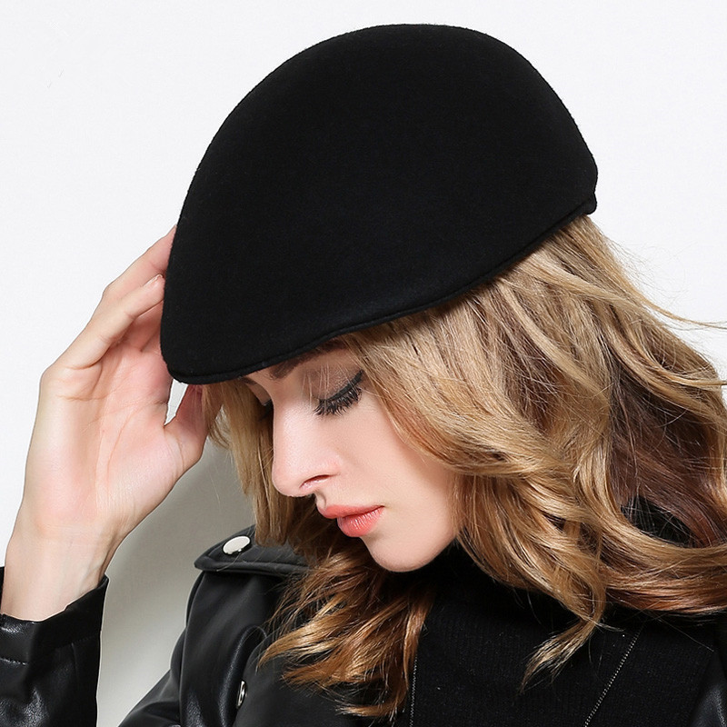6b2f50bfb7b33 Detail Feedback Questions about Men Felt Flat Peaked Hats Adult Winter  Casual Plain Beret Caps Women 100% Wool Felt Newsboy Hats on Aliexpress.com