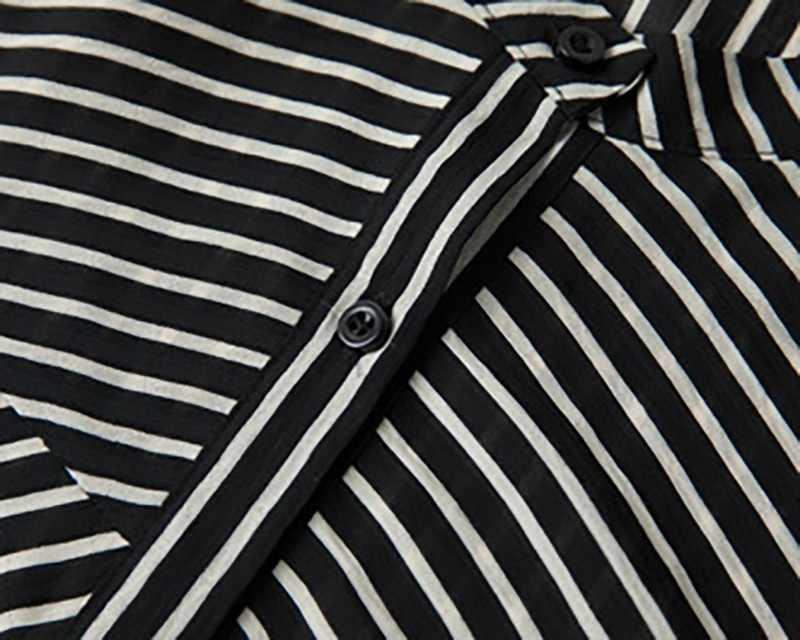 CHICEVER Летний полосатый Женский комплект из двух предметов водолазка с коротким рукавом топ одежда с эластичными прямыми штанами наборы 2019 Мода