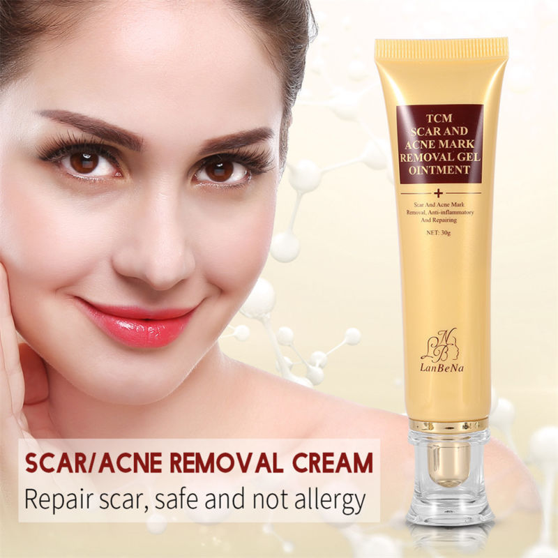 LanBeNa 30g Women TCM Scar And Acen Mark Removal Gel Ointment Acne Scar Repairing Cream  Face Toner Supplement TSLM2