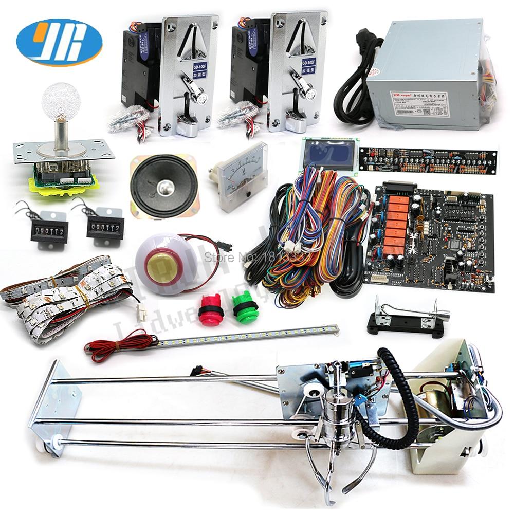 English Claw Crane Machine PCB PP Tiger Crane Machine DIY kit with crane claw joystick buttons