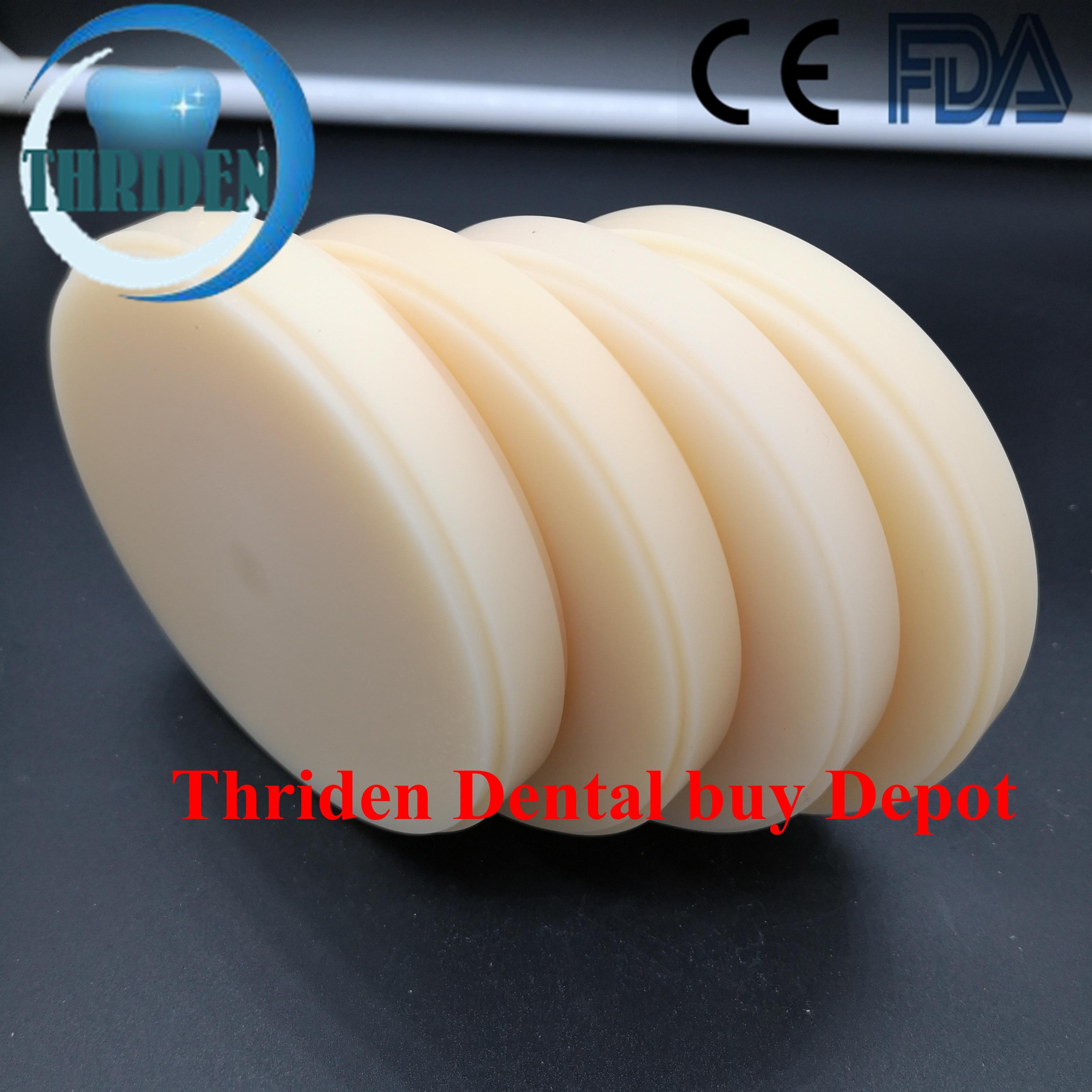 5 pcs/lot 98*20mm disque dentaire PMMA pour couronne temporaire A0 A1 A2 A3 B1 BL rose et clair CAD CAM PMMA blocs