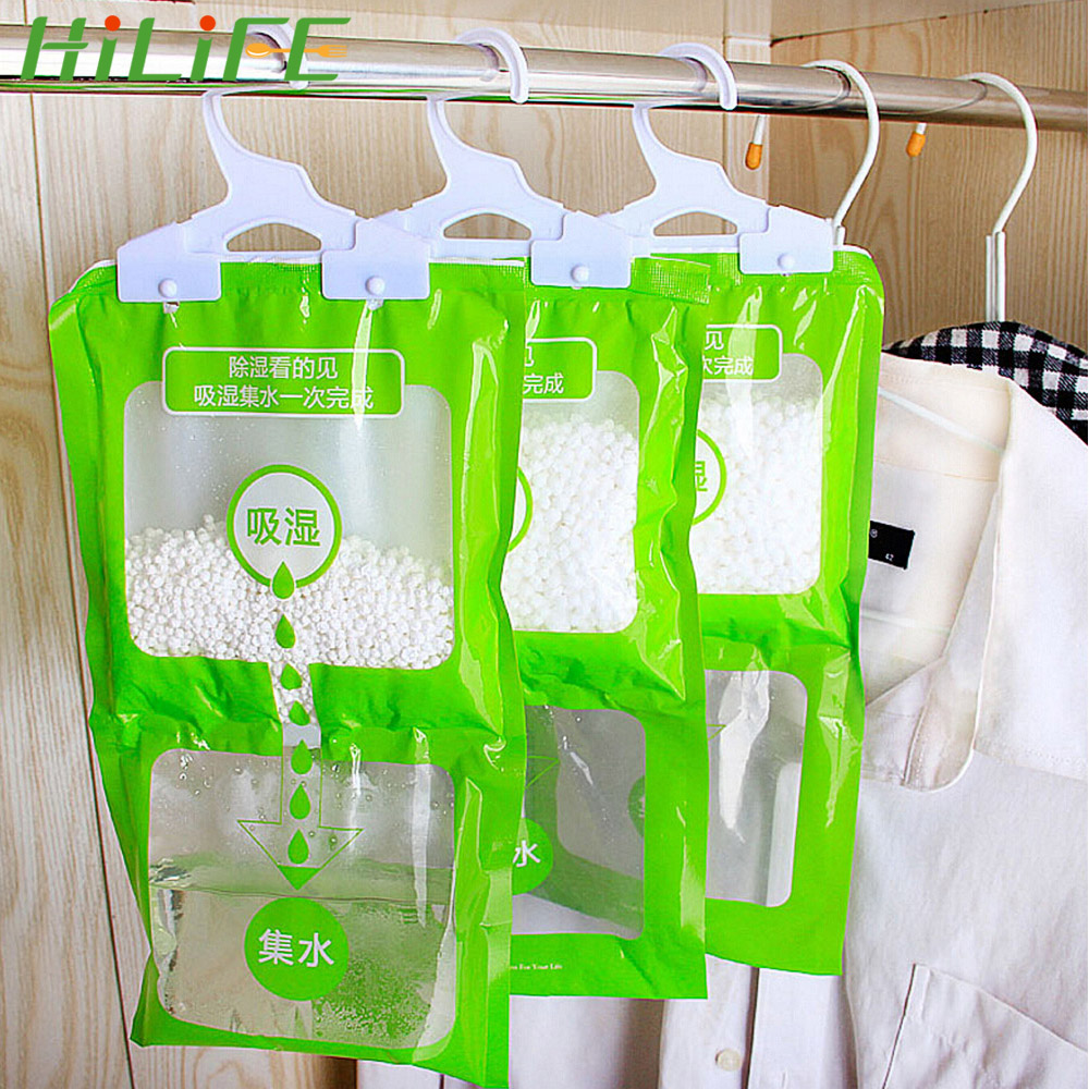 HILIFE Anti-Mold Desiccant Packets Wardrobe Hanging Moisture Absorbent Bags Closet Cabinet Dehumidifier Bag 1 Pc