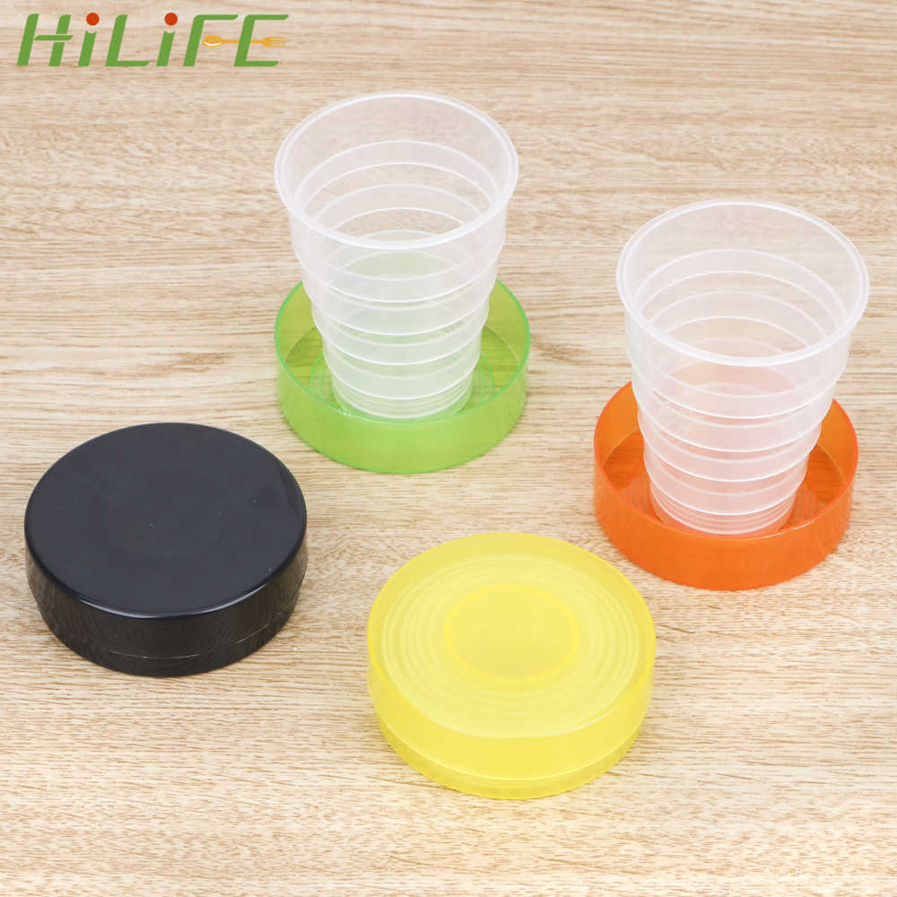 HILIFE For Outdoor Sport Travel Water Drinking Tea Cup Portable Retractable Telescopic Collapsible Cups Plastic Folding Cup