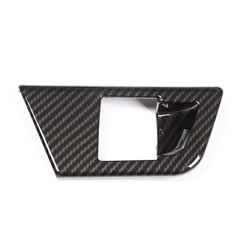 Carbon Fiber Style For Alfa Romeo Giulia 2017 2018 ABS Chrome Electronic Handbrake Decoration Cover Trim