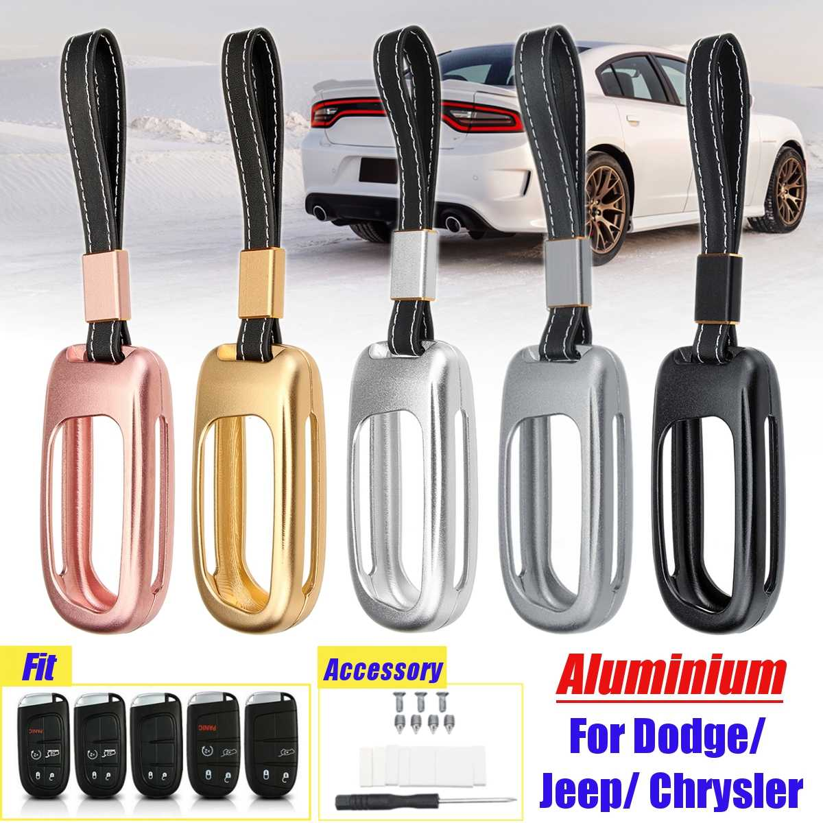Key Shell Key Blank fit for DODGE JEEP Smart Remote Key Case Fob 5 Button G
