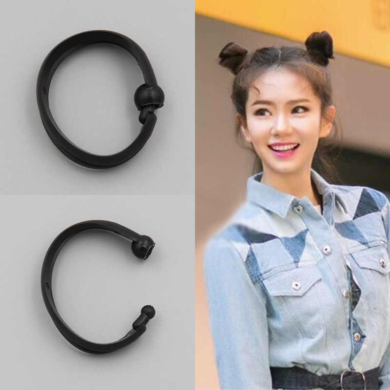2 Pcs Baru Hot Fashion Elegan Wanita Wanita Gadis Sihir Pembentuk Donat Rambut Ring Bun Fashion Rambut Styling Alat Aksesoris