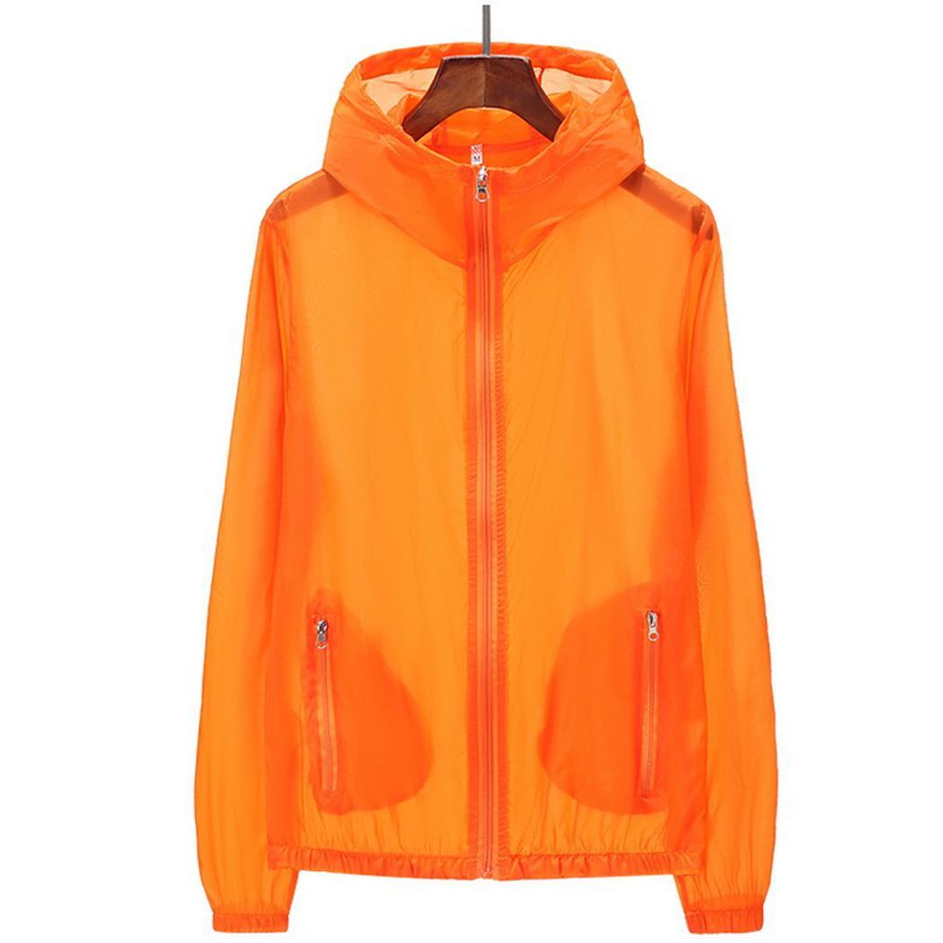Ancheer Brand Men Women Summer Outdoor Long Sleeve Zipper Solid Hooded Sun Protection Fishing Hooded Jacket
